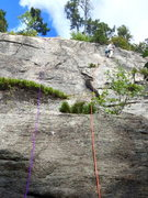"Rock Climbing Photo: ""Out of the Wilderness"" (on Bottom Slab)..."