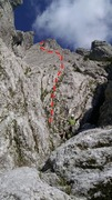 Rock Climbing Photo: Base of the route