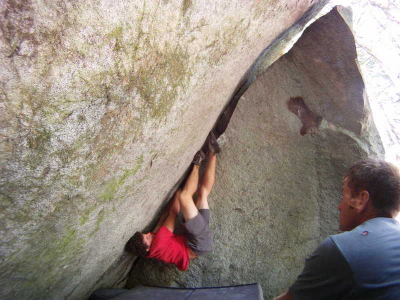Rock Climbing Photo: Marc Andre Leclerc on the second ascent