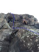 Rock Climbing Photo: funky monkey