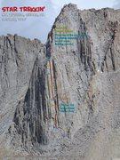 Rock Climbing Photo: Route Overlay Star Trekkin'
