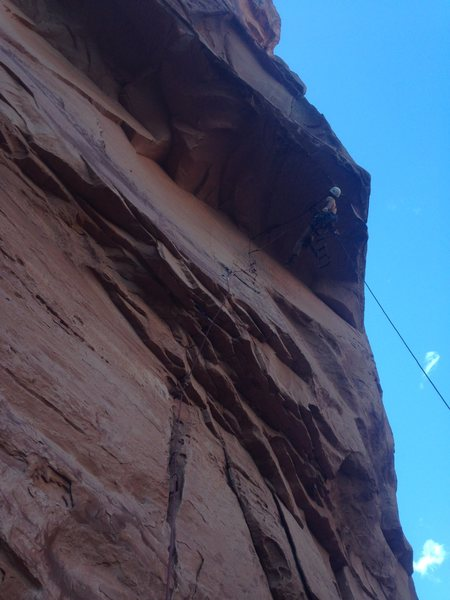 Rock Climbing Photo: Pitch 1 Roof