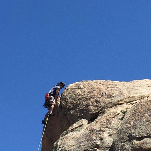 Rock Climbing Photo: Fun Move on Top
