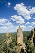 Rock Climbing Photo: On top of Man in the Woods.  Photo credit: Zach Ma...