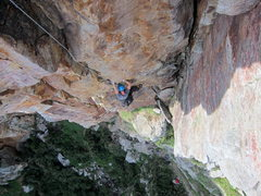 Rock Climbing Photo: Jim Althans in the business