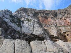 Rock Climbing Photo: Northeast-facing section