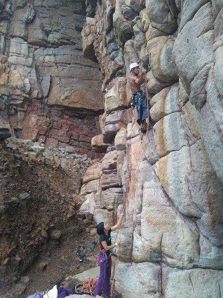Rock Climbing Photo: Ben jammin