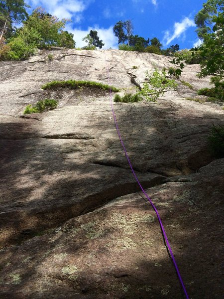 White Face: the purple rope marks the route