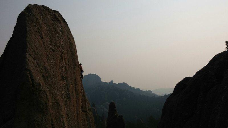 Rock Climbing Photo: Entering into the thin section