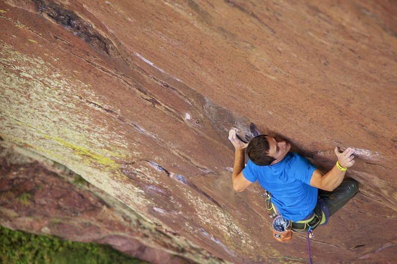 Rock Climbing Photo: Genesis without the bolts.  Photo by Dan Krauss.