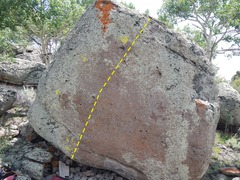 Rock Climbing Photo: The problem.