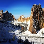Rock Climbing Photo: Smith Rock under a fresh blanket of snow.