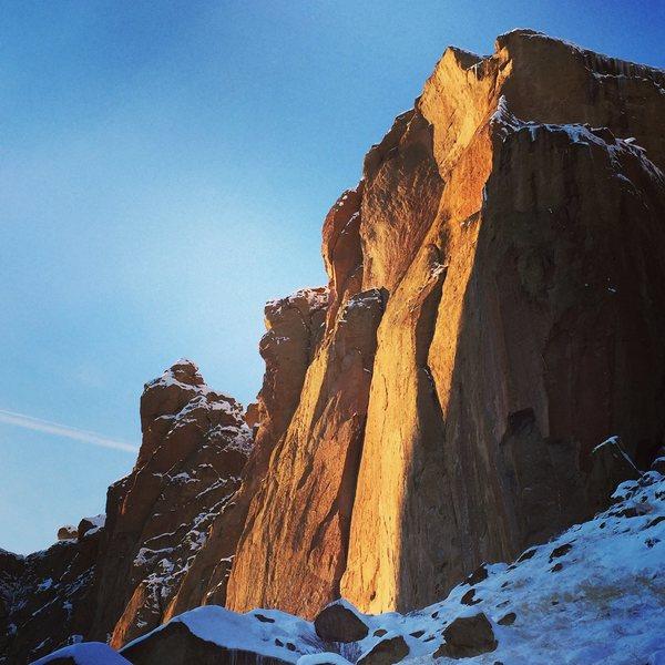 Rock Climbing Photo: Winter light.