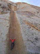 Rock Climbing Photo: Croft breezes through Solid Gold to set up a secon...