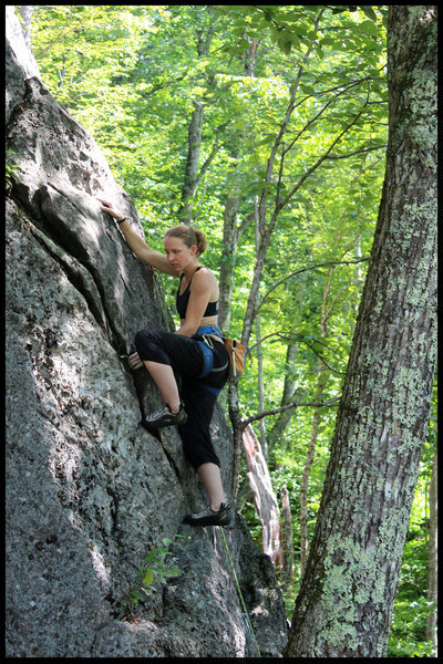 Rock Climbing Photo: torie mid route