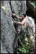 Rock Climbing Photo: the start is a bit burly for the grade... but tyle...