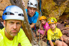 Rock Climbing Photo: After a hard fight with pitch 4, we recuperate bef...