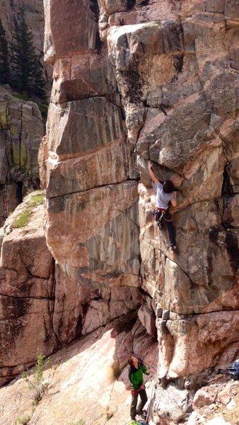 Rock Climbing Photo: Andrew on the picturesque Chillarete.