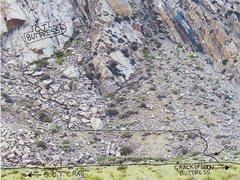 Rock Climbing Photo: Photo of approach to OJ Buttress