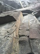 Rock Climbing Photo: You can see the anchors about 20 feet above the ro...