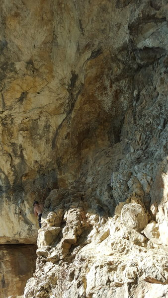 The cave area,