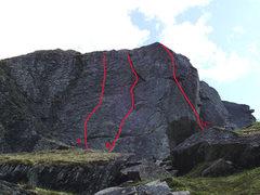 "Rock Climbing Photo: A.  ""Weekend Warrior"", Trad 5.6r B.  &qu..."