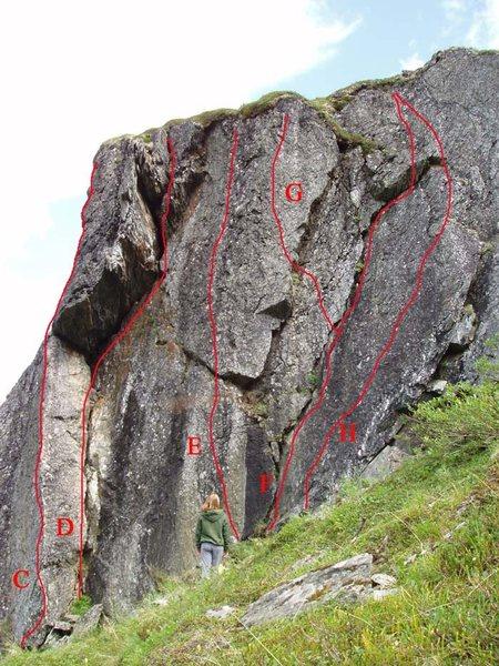 Rock Climbing Photo: F. Route
