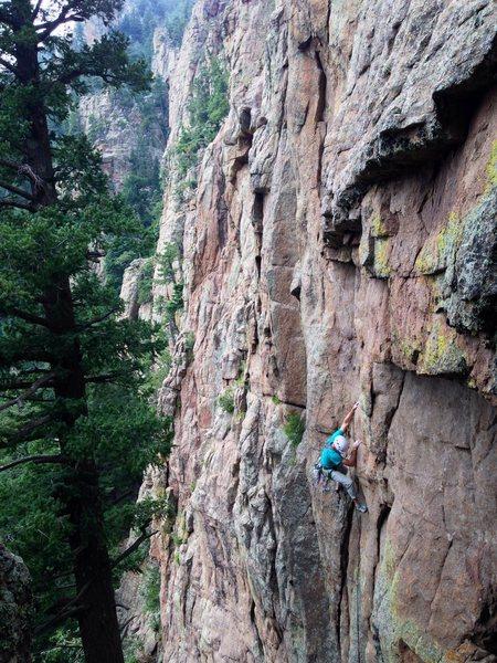 Rock Climbing Photo: John Groth on the bottom crux!