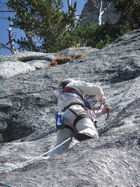 Rock Climbing Photo: Bruce placing the second new bolt on Europop.