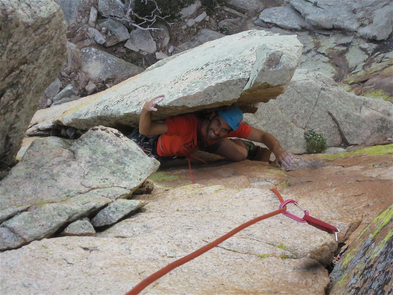 Rock Climbing Photo: Aleix on OM at the Reef of Rocks.