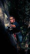 Rock Climbing Photo: Clawing down.