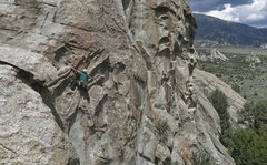 Rock Climbing Photo: Callie Schmidt leading Groom with a View