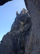 Rock Climbing Photo: Upper ridge from just below the second notch