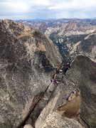 Rock Climbing Photo: Looking back at the notch from the summit