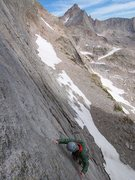 Rock Climbing Photo: Brian following P1/2....