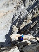 Rock Climbing Photo: Amy Ness enjoying the view atop the 4th tower on L...