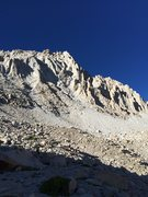 Rock Climbing Photo: Rest & Be Thankful (V 5.10a 2,000'), Mt Langley. T...
