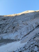 Rock Climbing Photo: Looking up Cowboys & Indians. The start is marked ...
