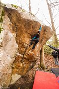 Rock Climbing Photo: Fun problem.  A little throw to the top, if you're...