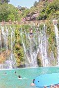 Rock Climbing Photo: Bierge Waterfall Jump