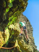 Rock Climbing Photo: The FA of Clast from the Past 2nd pitch