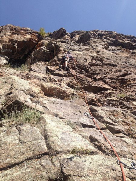 Rock Climbing Photo: Brian getting it done.