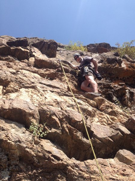 Rock Climbing Photo: Kevin near the start.