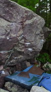 Rock Climbing Photo: Pony Rider climbs up edges on face.