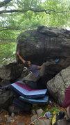 Rock Climbing Photo: Zach on the start.