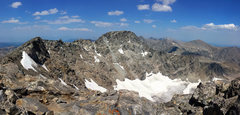 Rock Climbing Photo: North Peak from South Peak in August.