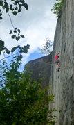 Rock Climbing Photo: Josh leading TR.