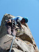 "Rock Climbing Photo: Trevor setting a ""Old School Hex""...whic..."