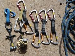 Rock Climbing Photo: FA rack