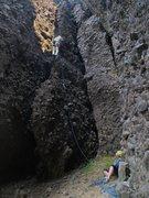"Rock Climbing Photo: Climbing the ""spur"""